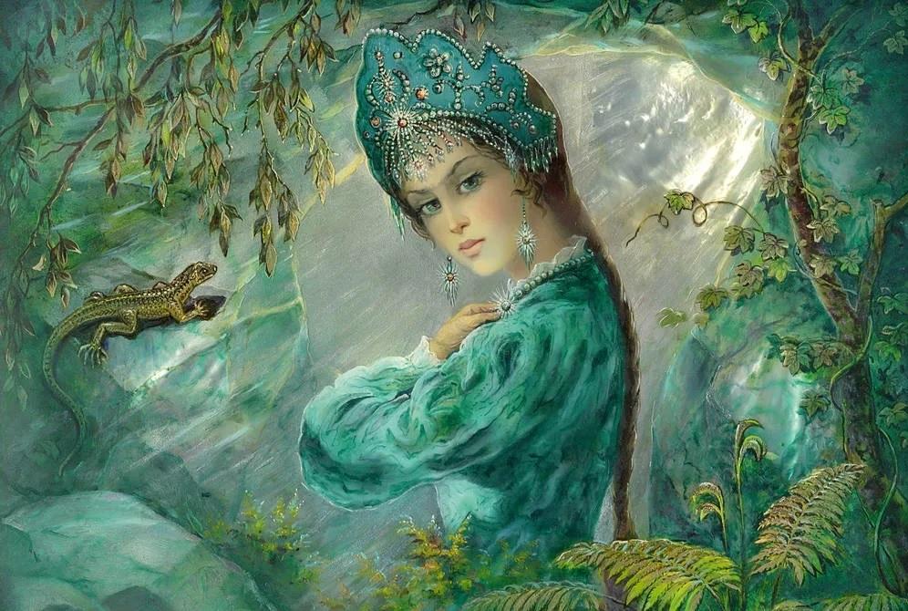 Характеристика Хозяйки Медной горы из сказов «Медной горы Хозяйка» и «Каменный цветок»